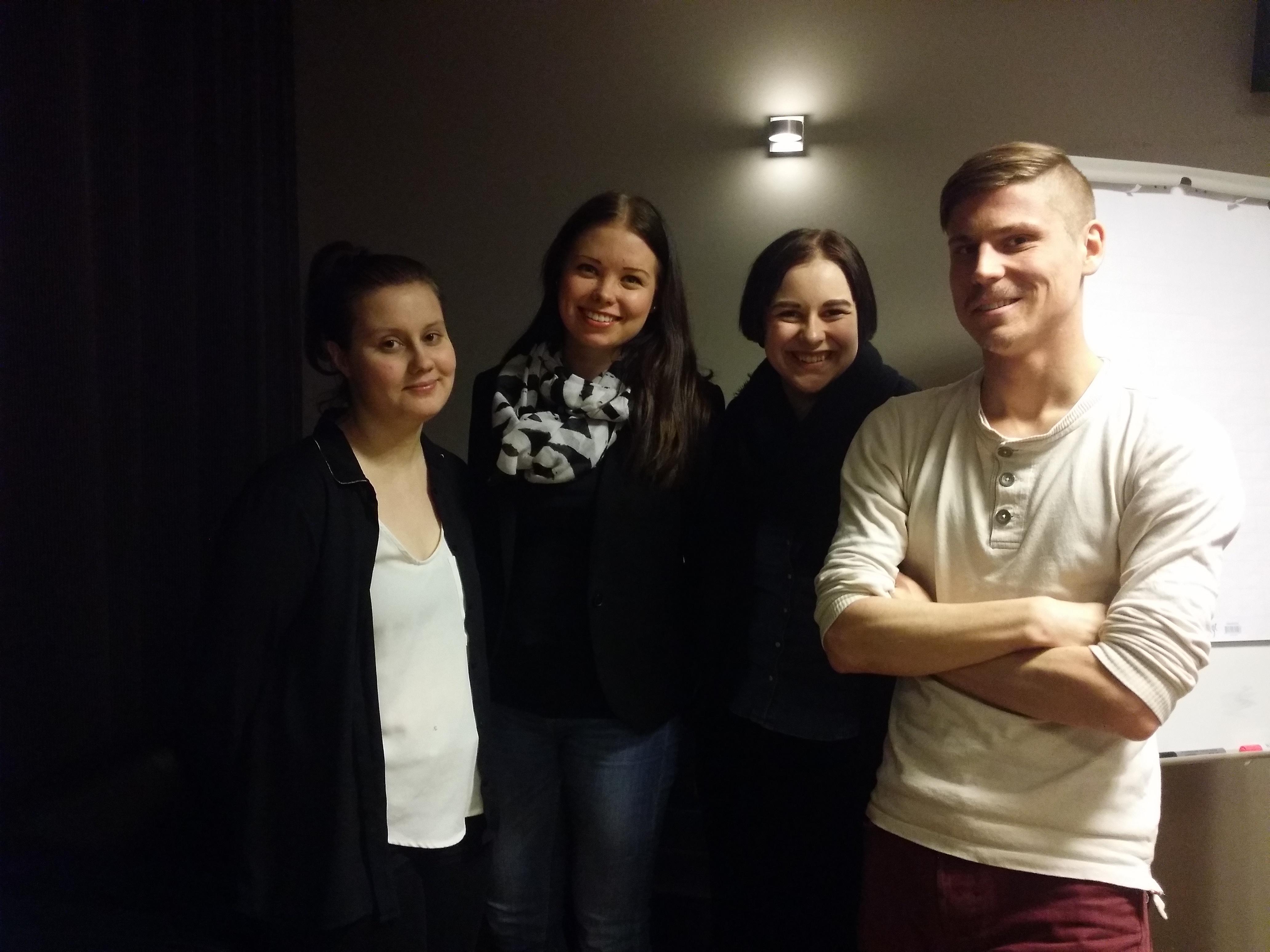 Suvi-Tuulia Nykänen, Heidi Järvenpää, Laura Kangas ja Topias Peltonen edustavat Lööppiä Keski-Suomen journalistien hallituksessa.