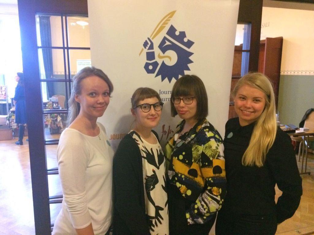 Journalismin päivään osallistuivat Minna Markkanen, Riikka Maukonen, Laura Kuivalahti ja Heidi Järvenpää.